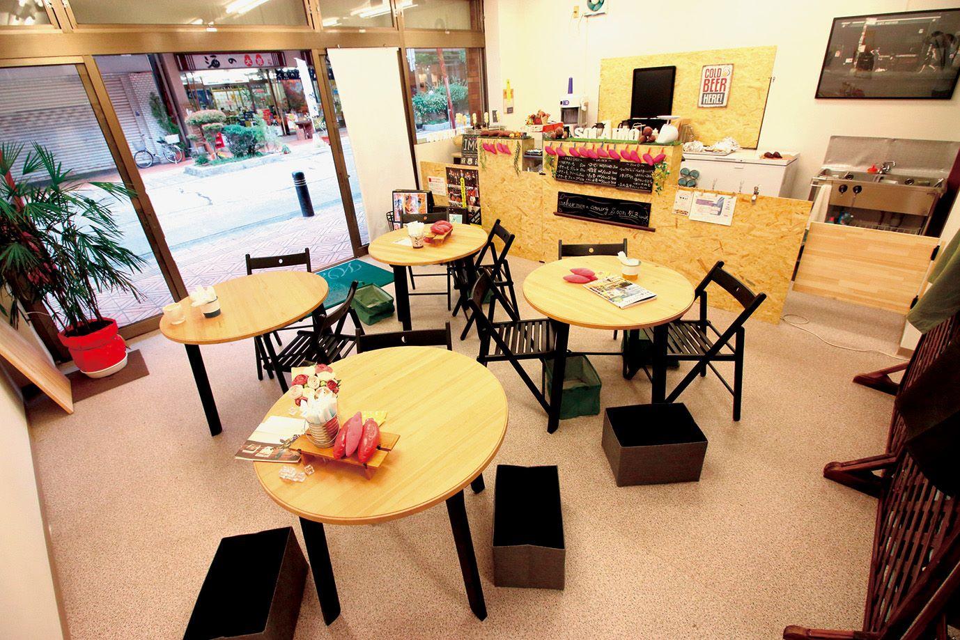 壺やきいも専門店そらいもの店内飲食スペース
